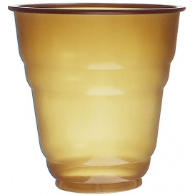 "Plastic Cup PS Vending ""Design"" Brown 166ml Ø7,0cm (100 Units)"