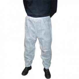 "Disposable Plastic Trousers ""TST"" PP White (1 Unit)"