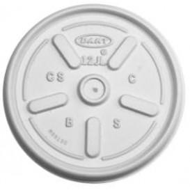Plastic Lid PS for Foam Cup Flat Ø8,9cm (1000 Units)