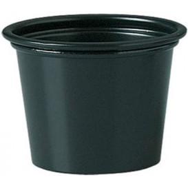 Plastic Souffle Cup PP Black 30ml Ø4,8cm (250 Units)