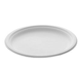 Sugarcane Plate White Ø26 cm (25 Units)