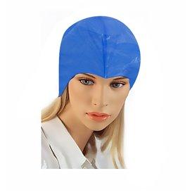 Disposable Bouffant Cap PE Hair Treatment Blue (50 Units)