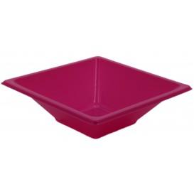 Plastic Bowl PS Square shape Fuchsia 12x12cm (1500 Units)