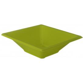 Plastic Bowl PS Square shape Pistachio 12x12cm (25 Units)