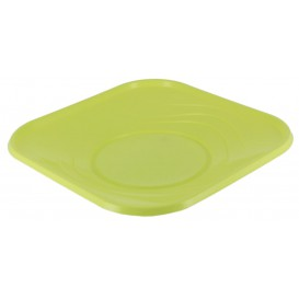 "Plastic Plate PP ""X-Table"" Square shape Lime 18 cm (8 Units)"