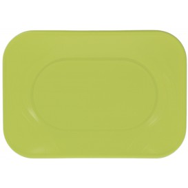 """Plastic Tray Microwavable """"X-Table"""" Lime Green 33x23cm (2 Units)"""