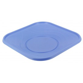 "Plastic Plate PP ""X-Table"" Square shape Violet 18 cm (120 Units)"