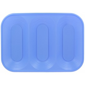 "Plastic Tray Microwavable ""X-Table"" 3C Violet 33x23cm (2 Units)"