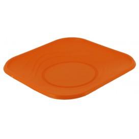 "Plastic Plate PP ""X-Table"" Square shape Orange 23 cm (120 Units)"