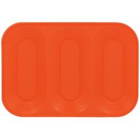 "Plastic Tray Microwavable ""X-Table"" 3C Orange 33x23cm (30 Units)"