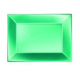 "Plastic Tray Microwavable Green ""Nice"" 28x19cm (240 Units)"