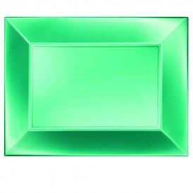 "Plastic Tray Microwavable Green ""Nice"" 34,5x23cm (60 Units)"