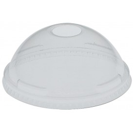 Plastic Dome Lid with Hole PET Crystal Ø9,2cm (1000 Units)