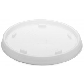 Plastic Lid with Straw Slot PS Translucent Ø8,1cm (1000 Units)