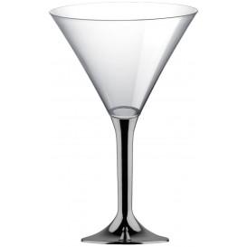 Plastic Stemmed Glass Cocktail Niquel Chrome 185ml 2P (40 Units)