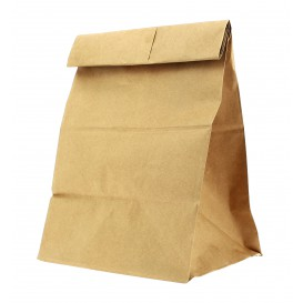Paper Bag without Handle Kraft 18+11x34cm (25 Units)