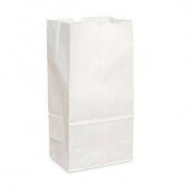 Paper Bag without Handle Kraft White 18+11x34cm (25 Units)