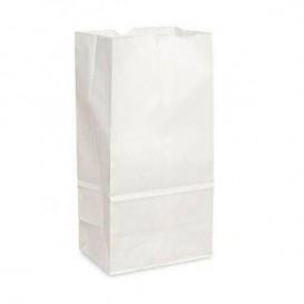 Paper Bag without Handle Kraft White 18+11x34cm (500 Units)