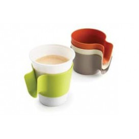 Plastic Cup Holder PP Vanille (96 Units)