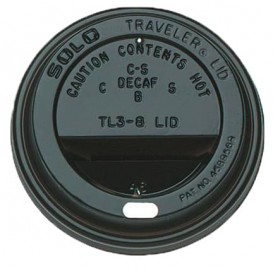Lid for Cup Hole 6 and 8 Oz Black Ø7,9cm (1000 Units)
