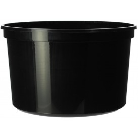 Plastic Deli Container Black PP 500ml Ø11,5cm (500 Units)