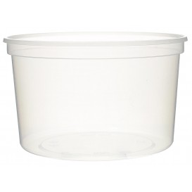 Plastic Deli Container Clear PP 500 ml Ø11,5cm (50 Units)