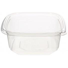 Plastic Deli Container PET Tamper-Evident 375ml 12x12x4cm (50 Units)