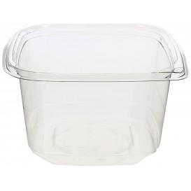 Plastic Deli Container PET Tamper-Evident 600ml 12x12x7cm (50 Units)