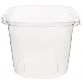 Plastic Deli Container PET Tamper-Evident 750ml 12x12x9cm (500 Units)