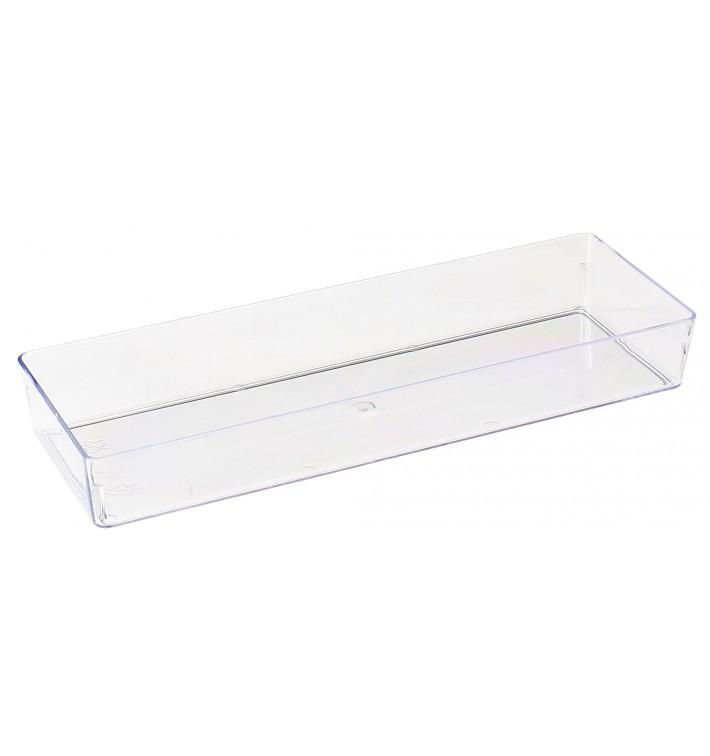 Plastic Tray PS Rectangular shape Clear 4,6x13cm (500 Units)