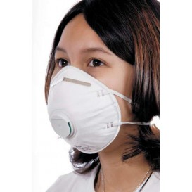 Disposable Dust Mask with Valve White FFP2 (200 Units)