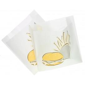 Paper Food Bag Grease-Proof Burger Design 15+5x16cm (1000 Units)