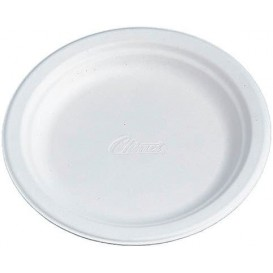 Paper Plate Wood Pulp Chinet White 22 cm (500 Units)