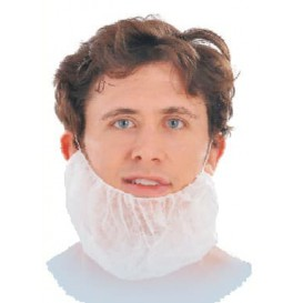 "Disposable Beard Cover ""TST"" PP White (1000 Units)"