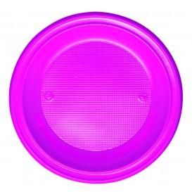 Plastic Plate PS Deep Fuchsia Ø22 cm (600 Units)