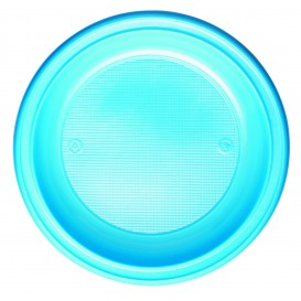 Plastic Plate PS Deep Light Blue Ø22 cm (600 Units)