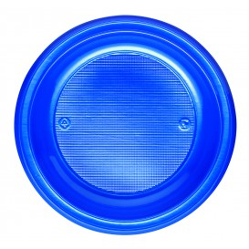Plastic Plate PS Deep Dark Blue Ø22 cm (30 Units)