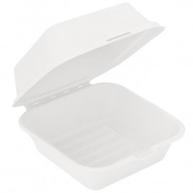 Sugarcane Burger Box White 152x152x84mm (600 Units)