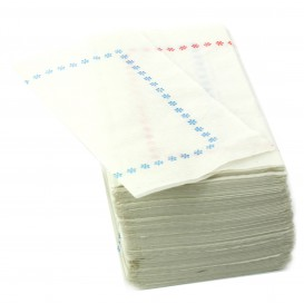 """Paper Napkin """"Zigzag"""" Red and Blue 14x14 (25.000 Units)"""