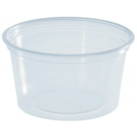 Plastic Souffle Cup PS Clear 80ml Ø7cm (100 Units)