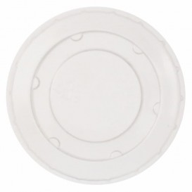 Plastic Lid PET Crystal Closed Flat Ø6,2cm (2500 Units)