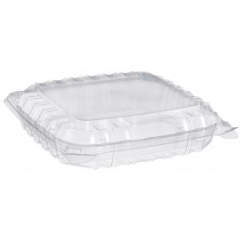 "Plastic Hinged Deli Container OPS 3 Compartments ""Clear Seal"" 335ml (125 Units)"