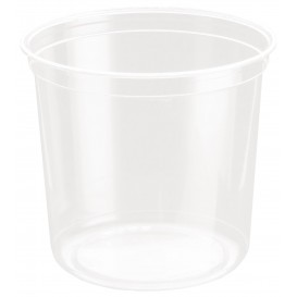 "Plastic Deli Container rPET ""DeliGourmet"" 24 Oz/710ml (500 Units)"