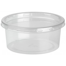 "Plastic Deli Container with Lid rPET ""DeliLite"" 7,6Oz/217ml (50 Units)"