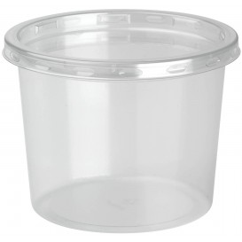 "Plastic Deli Container with Lid rPET ""DeliLite"" 9,8Oz/279ml (500 Units)"