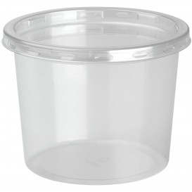 "Plastic Deli Container with Lid rPET ""DeliLite"" 13,2Oz/374ml (500 Units)"