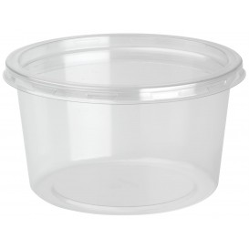 "Plastic Deli Container with Lid rPET ""DeliLite"" 19,4Oz/550ml (50 Units)"