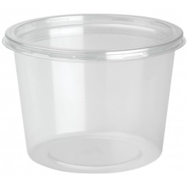 "Plastic Deli Container with Lid rPET ""DeliLite"" 24,6Oz/700ml (300 Units)"