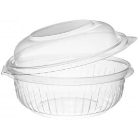 "Plastic Hinged Salad Bowl PET ""PresentaBowls"" High Dome Lid 360ml (300 Units)"