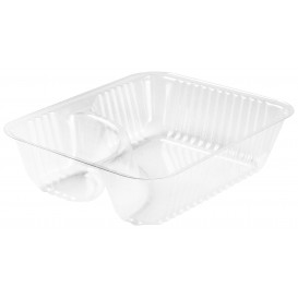 "Plastic Deli Container Clear ""Nachos"" 2C 355ml (125 Units)"